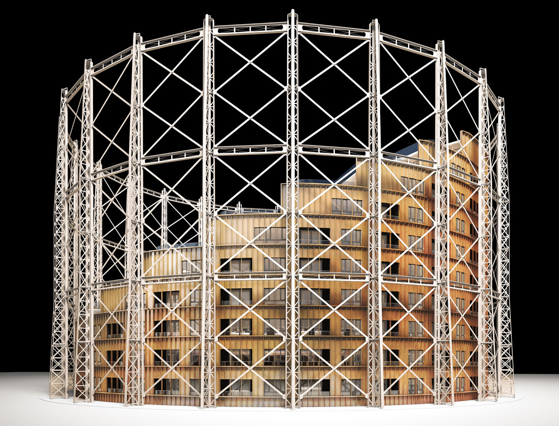 Oval Gasholder